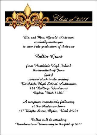 Personalized Invitation Announcement Stationery Cards School