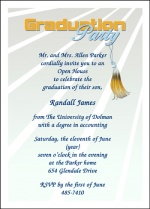 Popular party invitation wordings for high school graduation party the type celebration he wants will determine the amount of planning that will need to be done and the type of party invitations for high school graduation filmwisefo