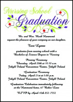 Wording guidelines for graduation announcements invitations and these are applicable to all type school graduations from preschool and kindergarten home school and high school to special graduations and advanced filmwisefo